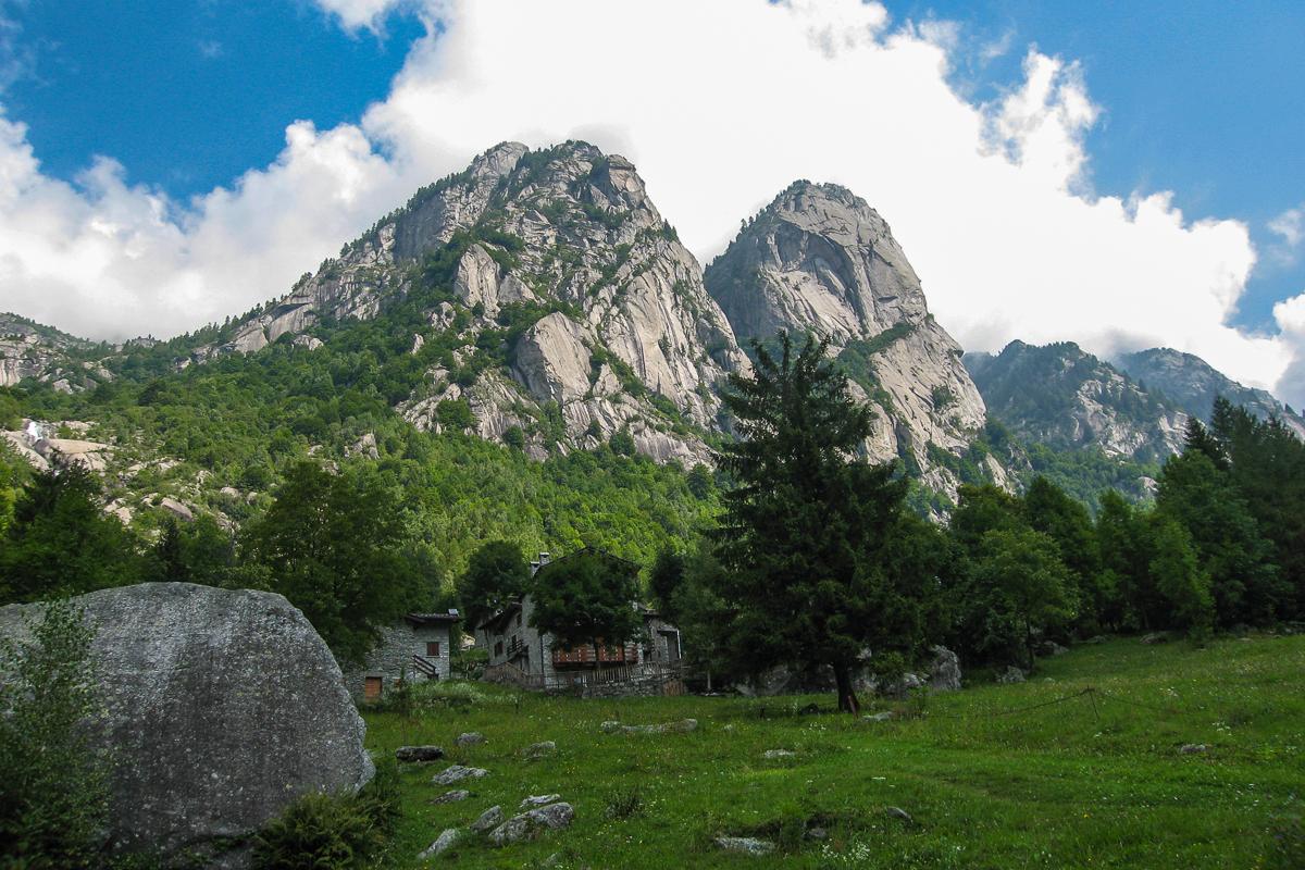 Das Val di Mello im südlichen Bergell