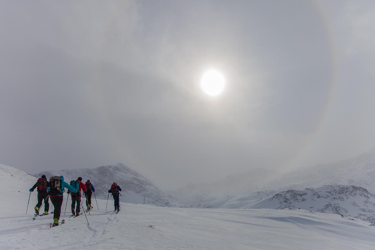 Skitouren am Hochkönig im Februar 2012 bei - 20 Grad und starkem Wind boten gefühlte Temperaturen von rund -35 Grad.