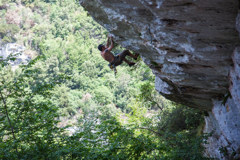 Zum Abschluss noch ein Kletterbild - aus der Gola di Brigante in Finale.