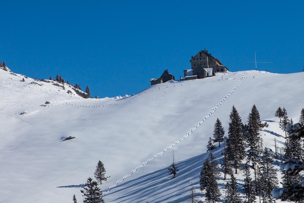Im Winter ist das Rotwandgebiet ein beliebtes Ziel für Skitouren