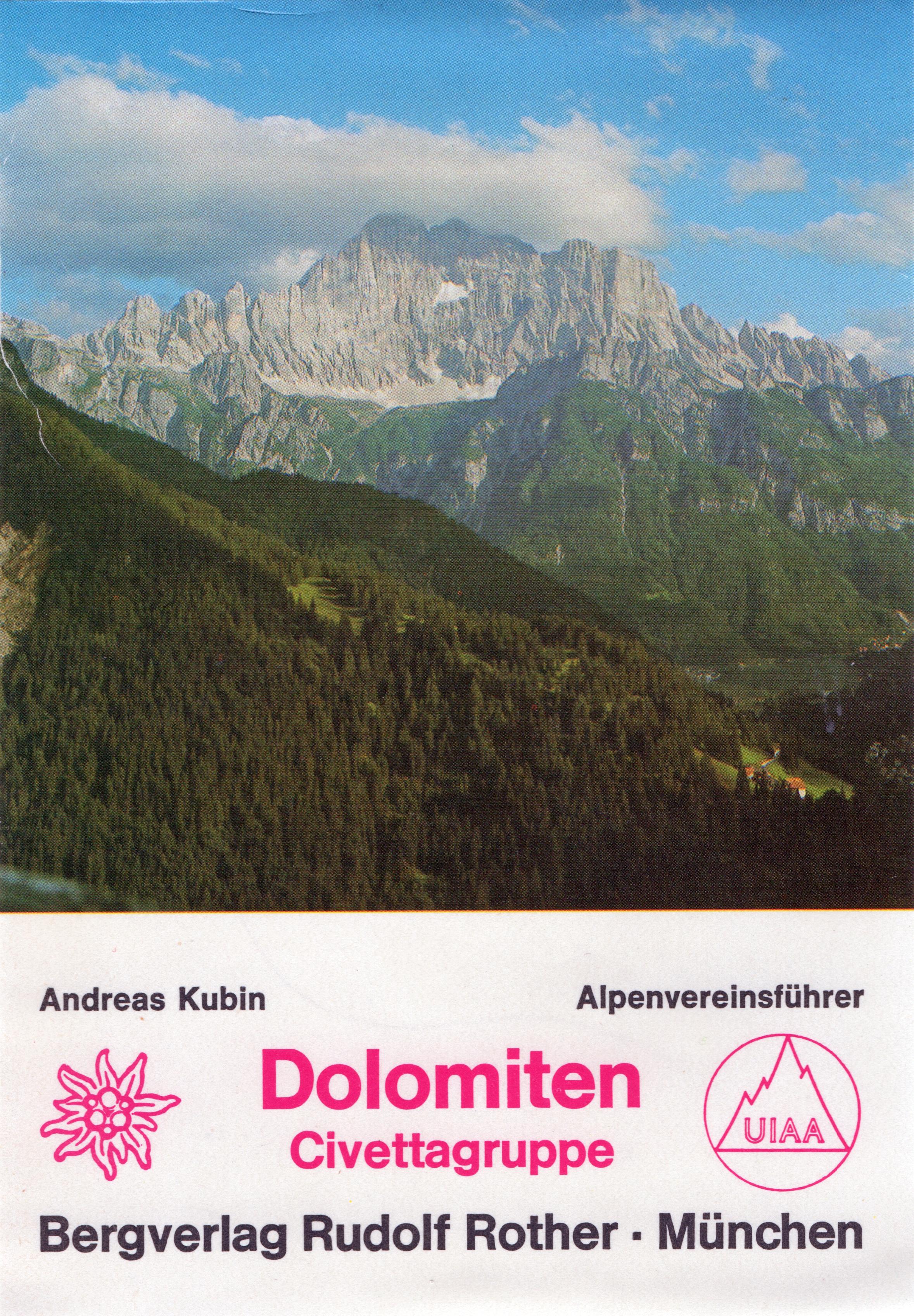 Alpenvereinsführer Civettagruppe - Dolomiten