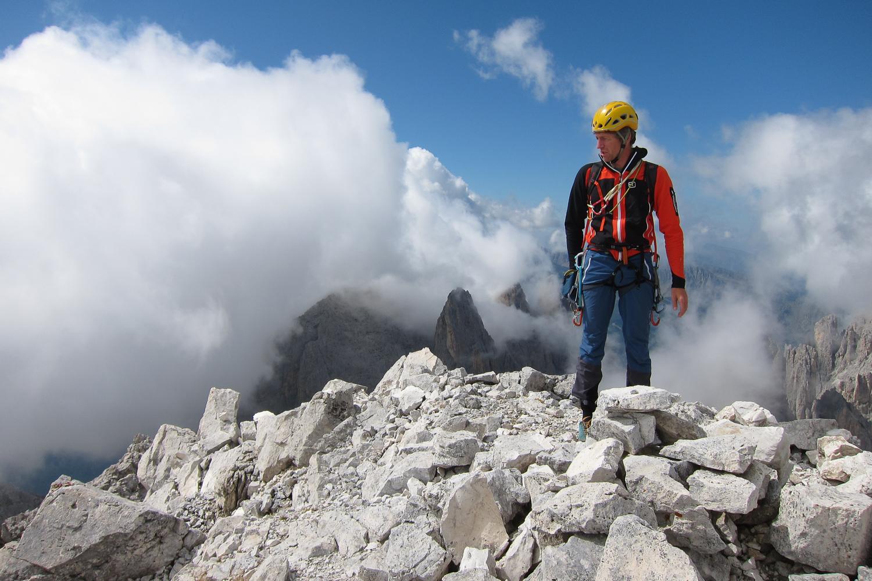 Der Gipfel der Cima Canali ohne Nebel - keine Selbstverständlichkeit in der Pala