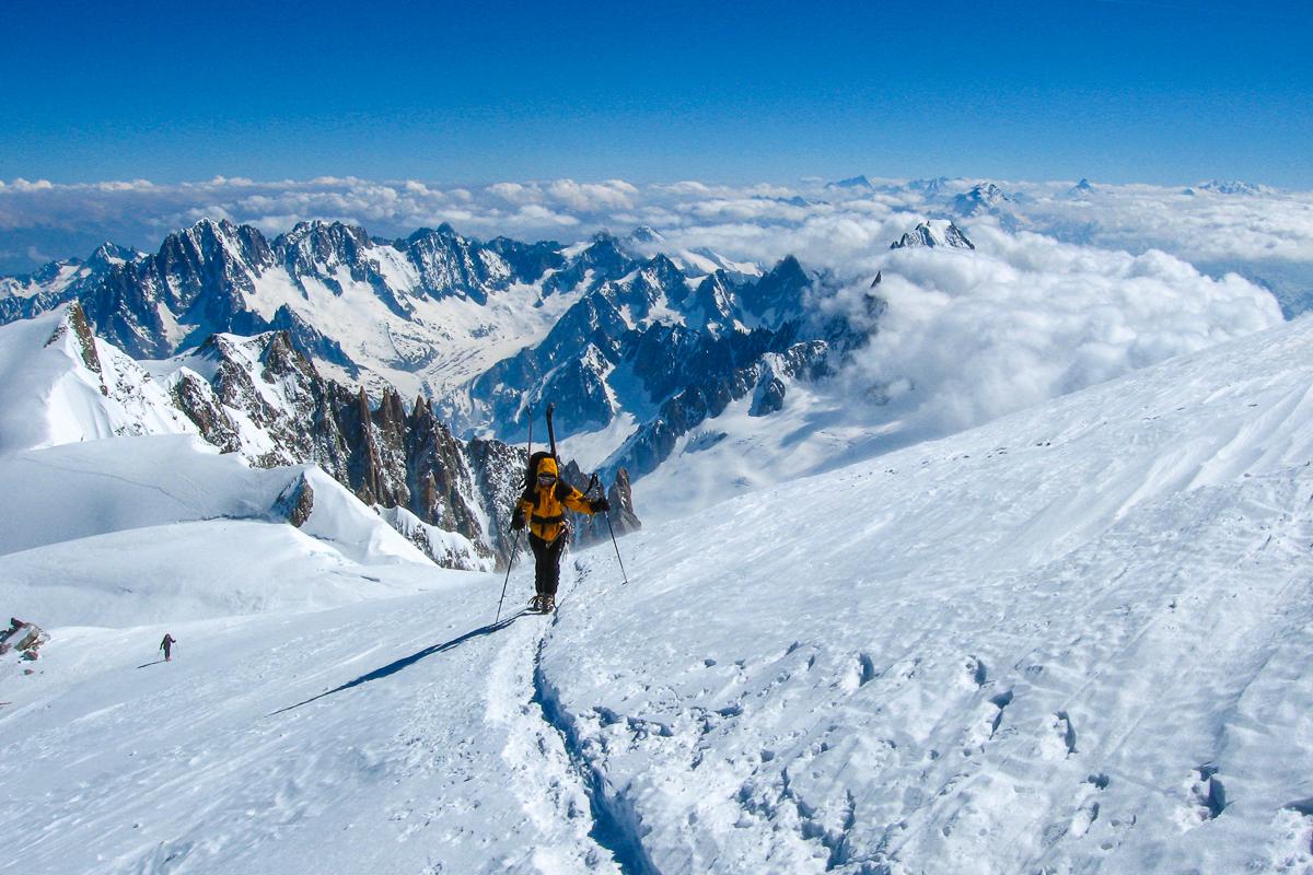 Der Gipfelanstieg zum Mont Blanc