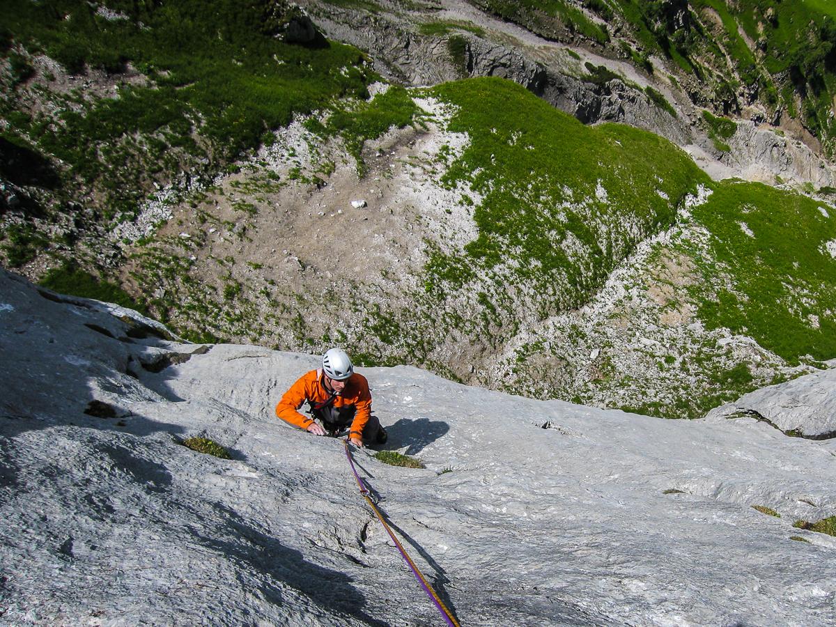 Bester Kalk an der Schaufelspitze im Karwendel