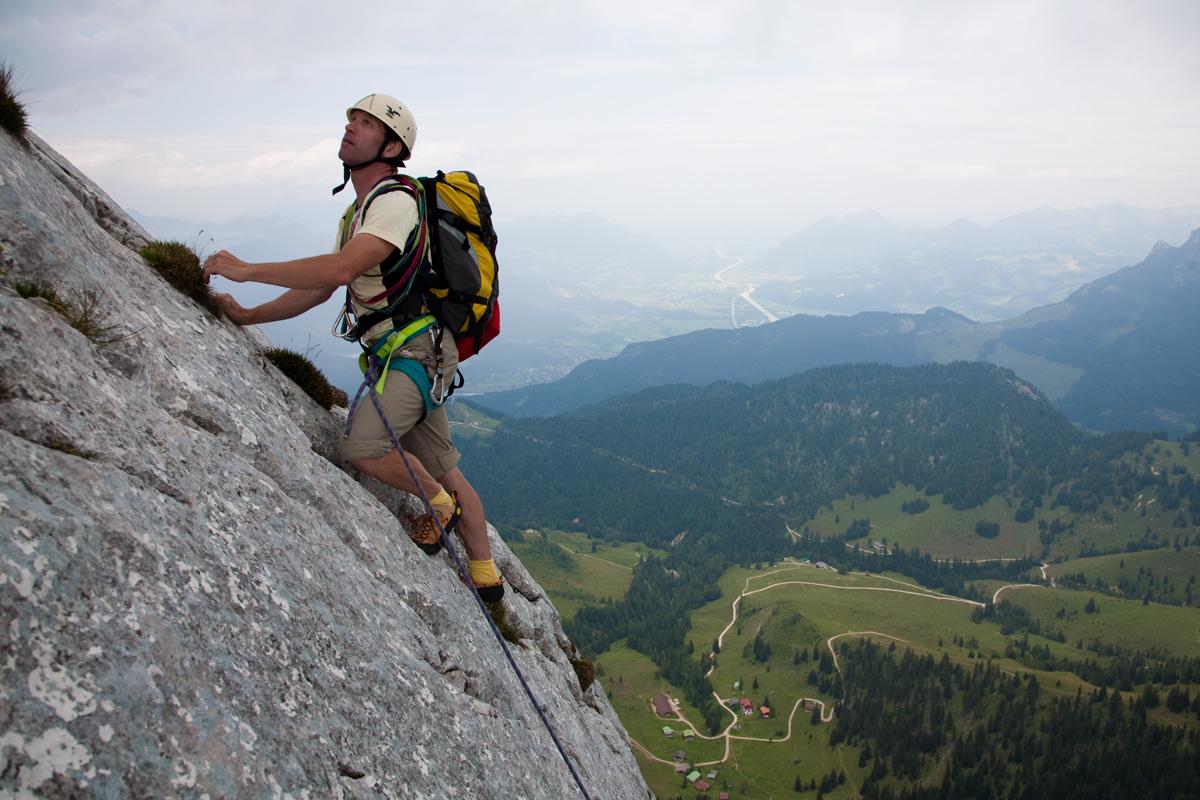 Die Zettenkaiser-Ostwand gehört zu den beliebtesten Routen des Tourengebiets.