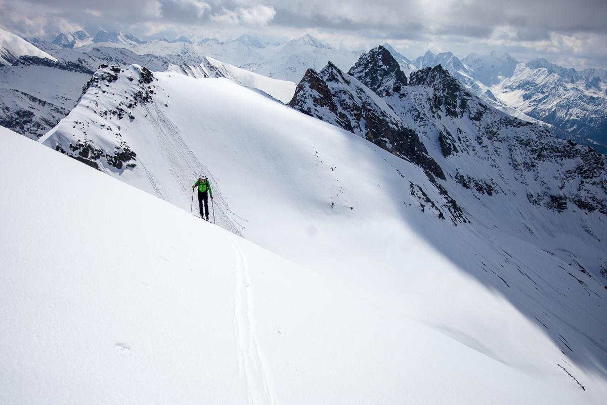 Die letzten Meter am Gipfelhang zur Zollspitze.