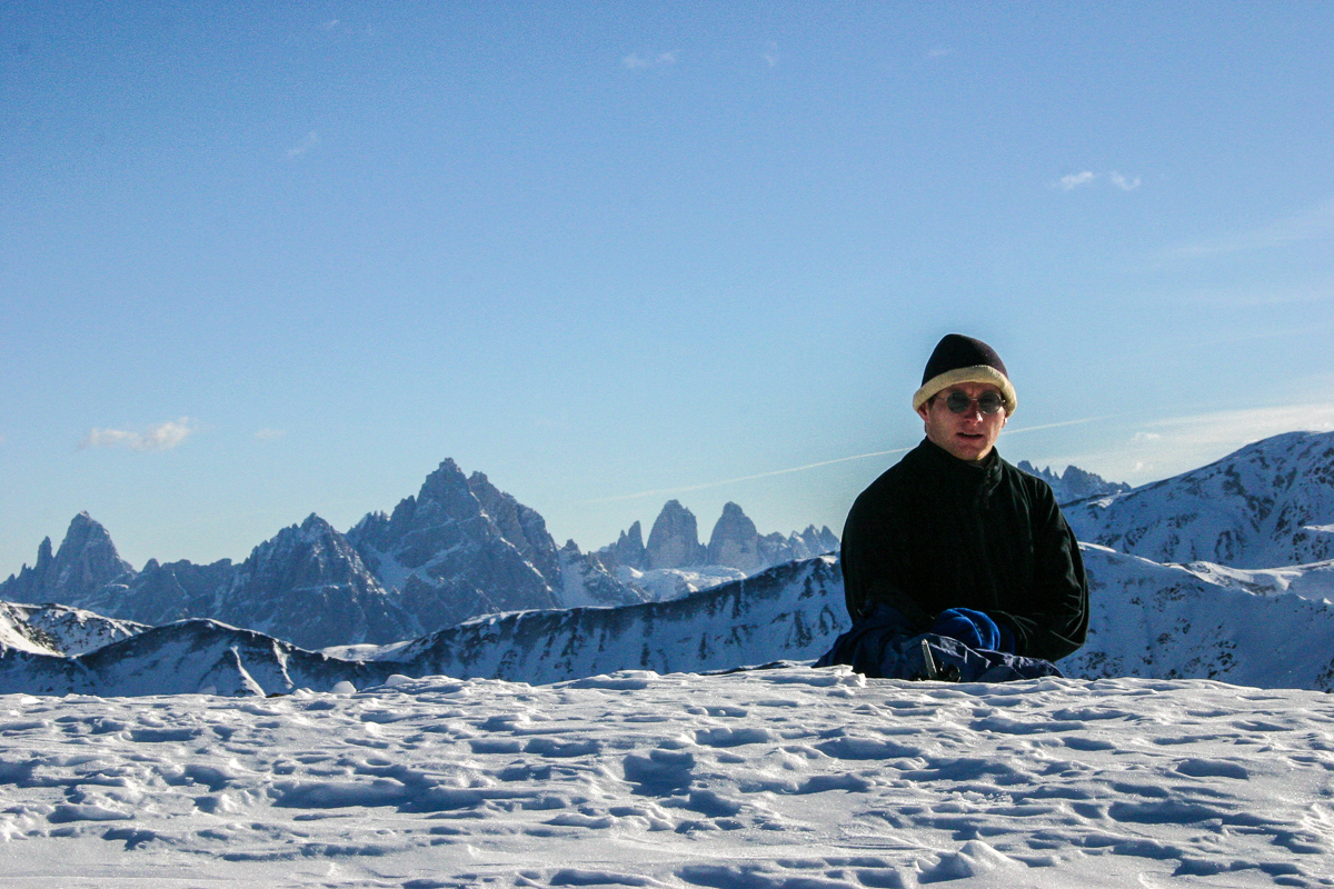 Vom Gipfel der Gailspitze hat man einen tollen Zinnenblick