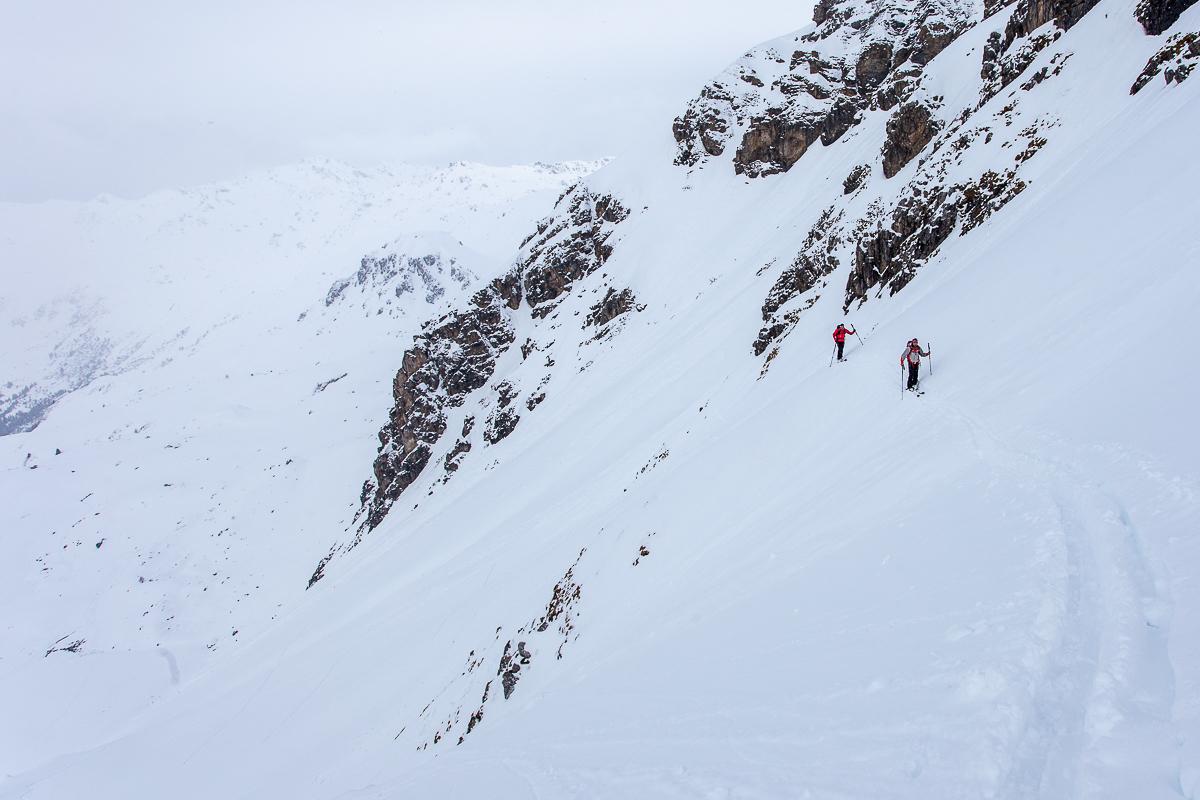 Die Steilstufe im Aufstieg ins Tarntal