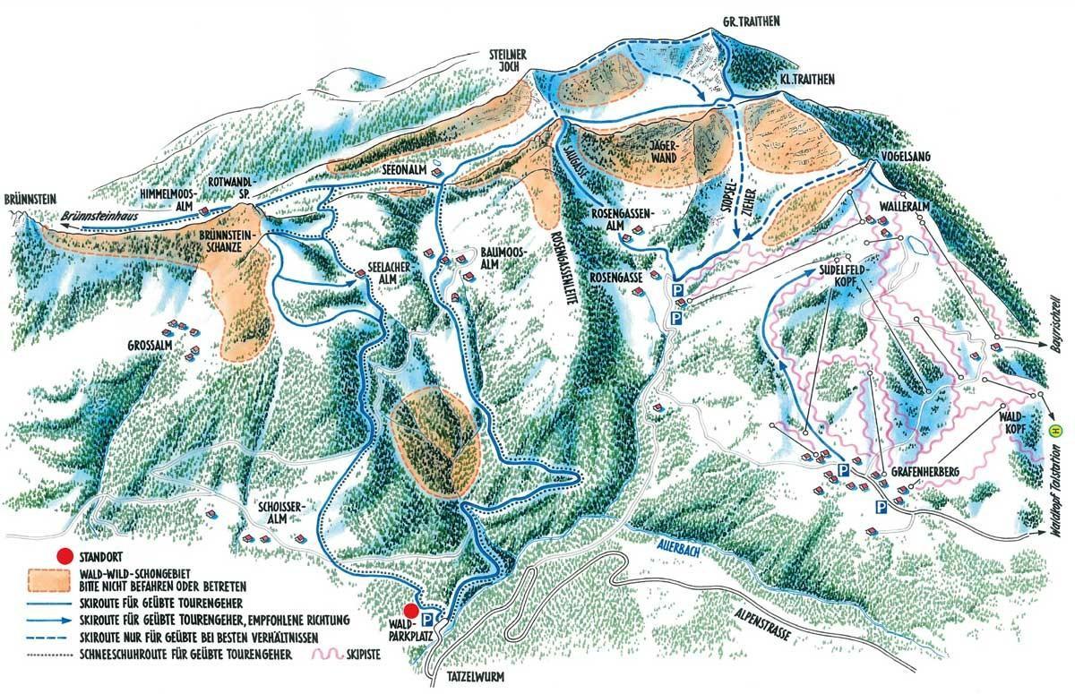 Wald-Wild-Schongebiete am Großen Traithen
